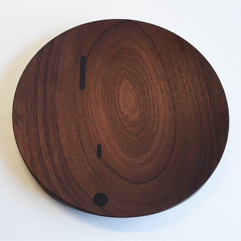 Ø 400 mm — Teak with rosewood inclusions