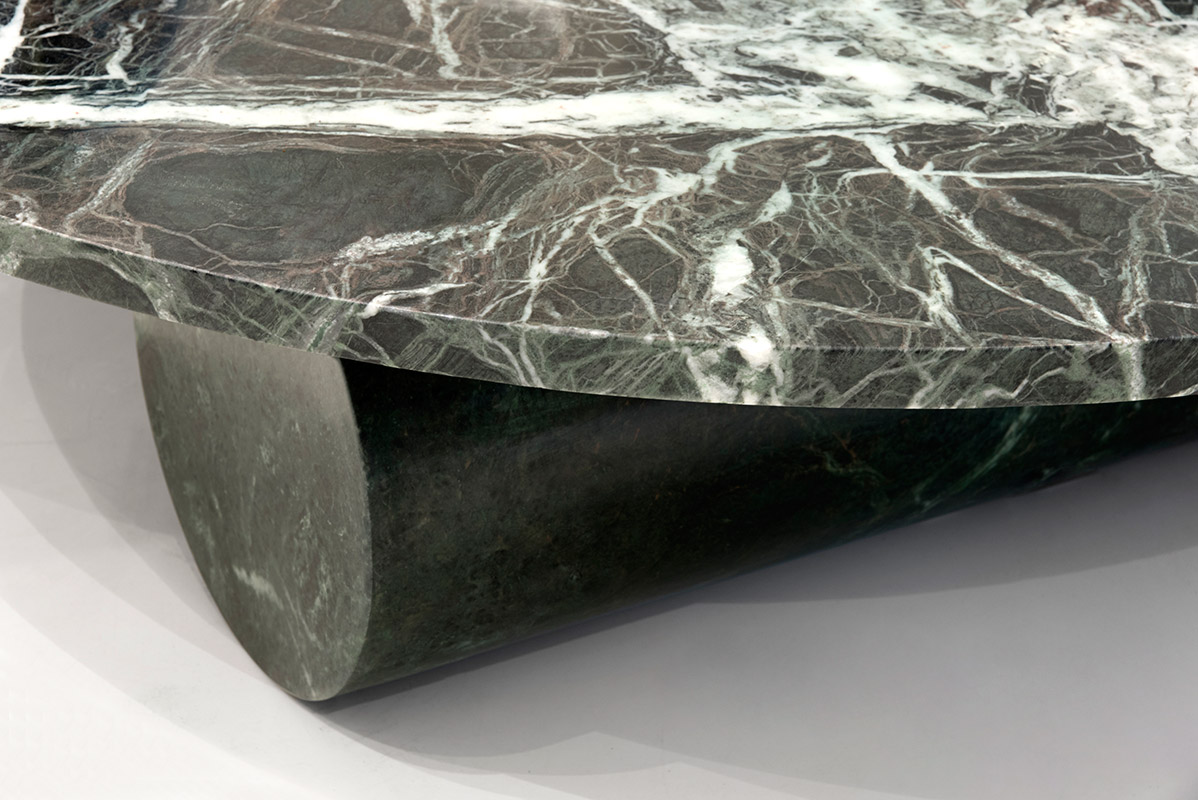 Three Cylinder Table, Green marble