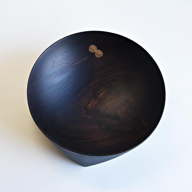 Ø 300 mm — Rosewood, with teak inclusions