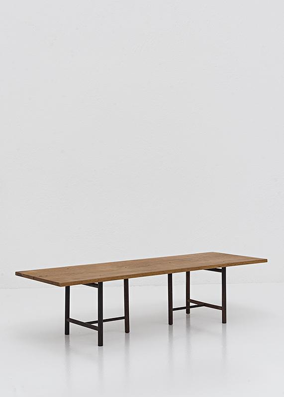 Pinned Trestle Table, | Teak & rosewood