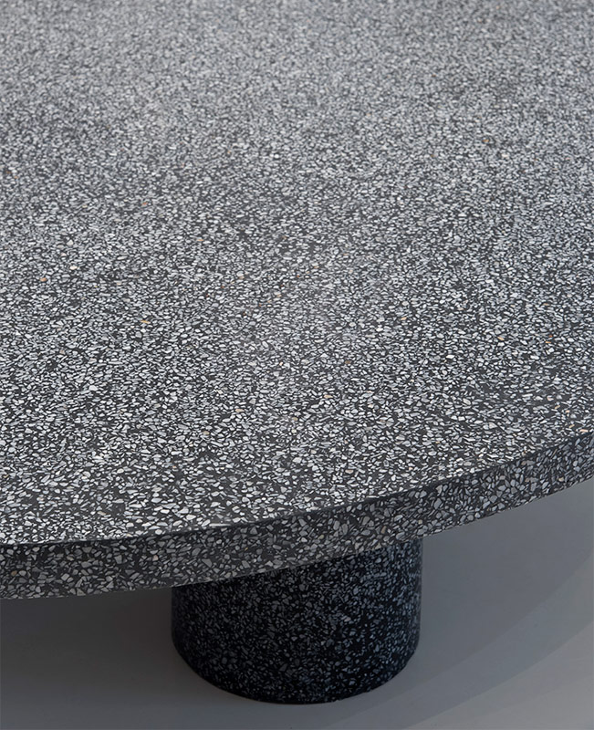 Three Cylinder Table | Terrazzo
