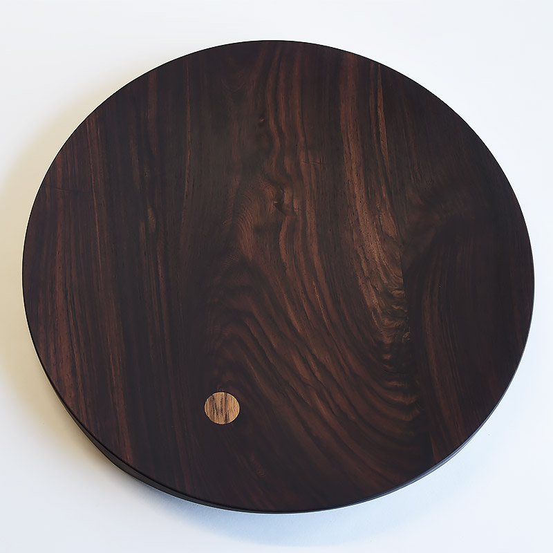 Ø 400 mm — Rosewood with teak inclusions