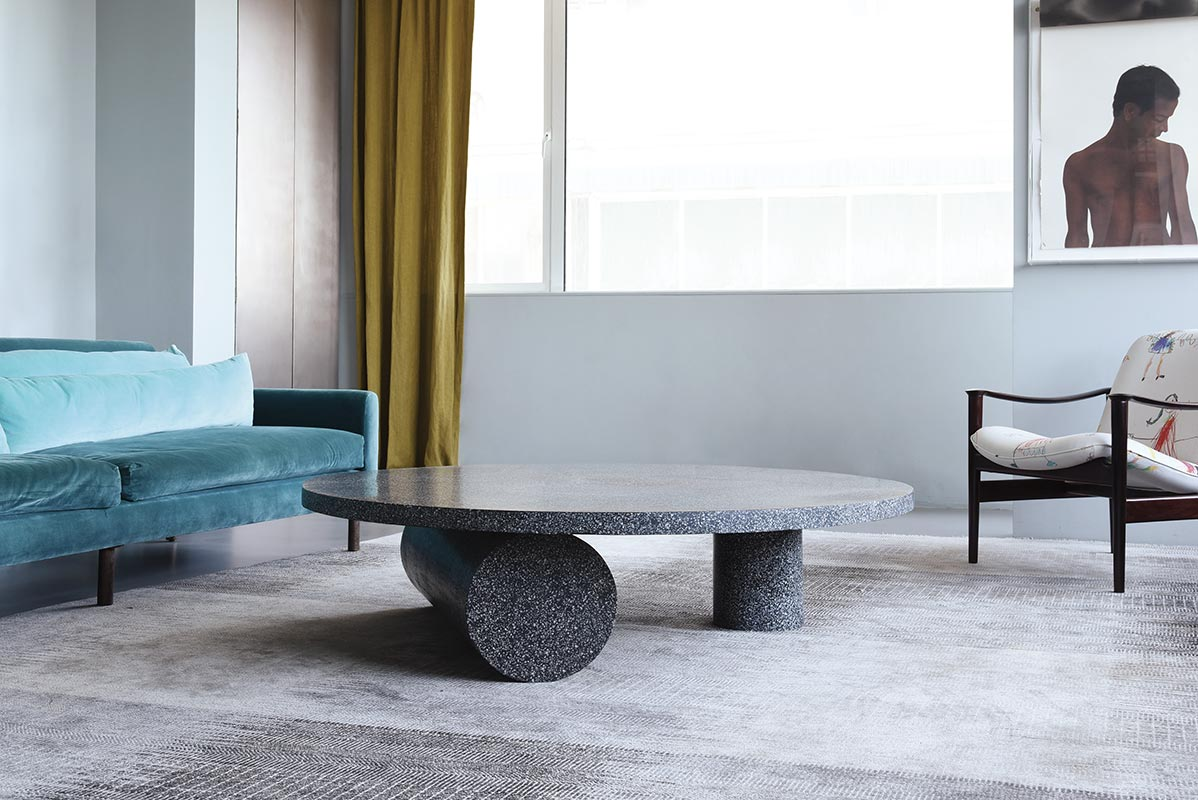 Three Cylinder Table, Terrazzo